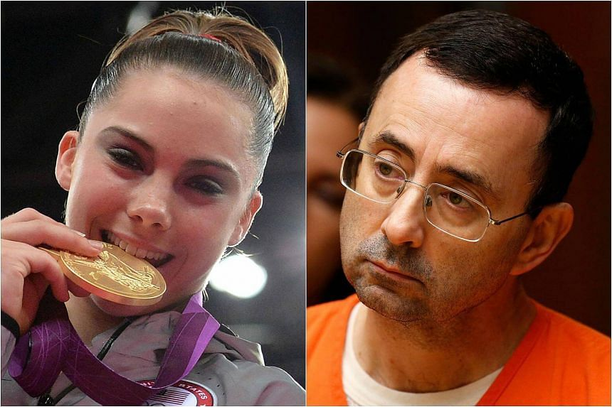 Olympic gold medal-winning US gymnast McKayla Maroney (left) revealed on Wednesday (Oct 18) that she was molested for years by former USA Gymnastics team doctor Larry Nassar.