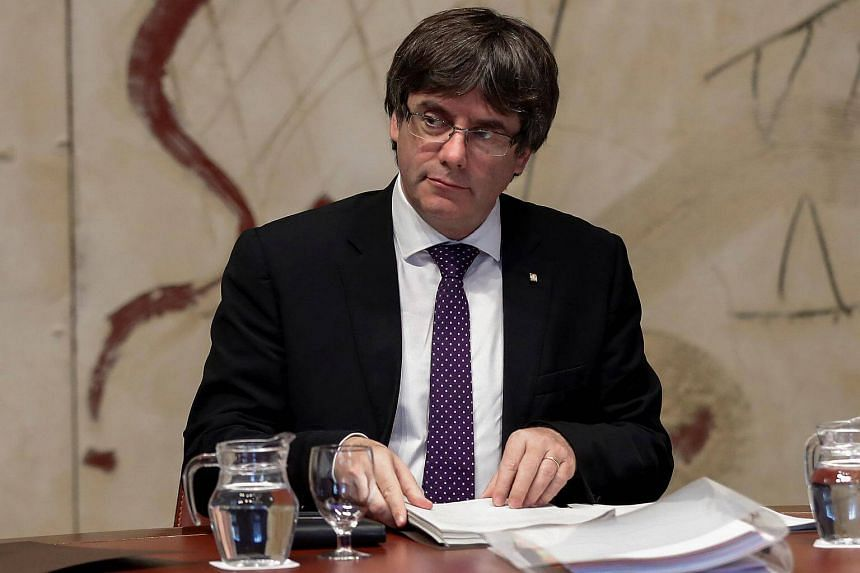 Spain has threatened to suspend Catalonia's autonomy unless Catalan President Carles Puigdemont abandons his push for independence by 4pm today (Singapore time).
