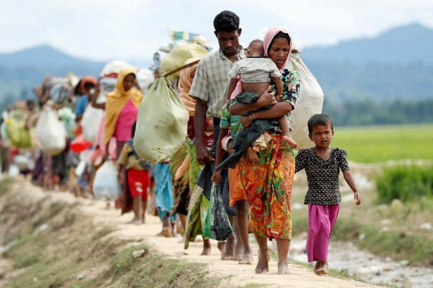 About 582,000 Rohingya have fled an army campaign in Myanmar's Rakhine state since late August.