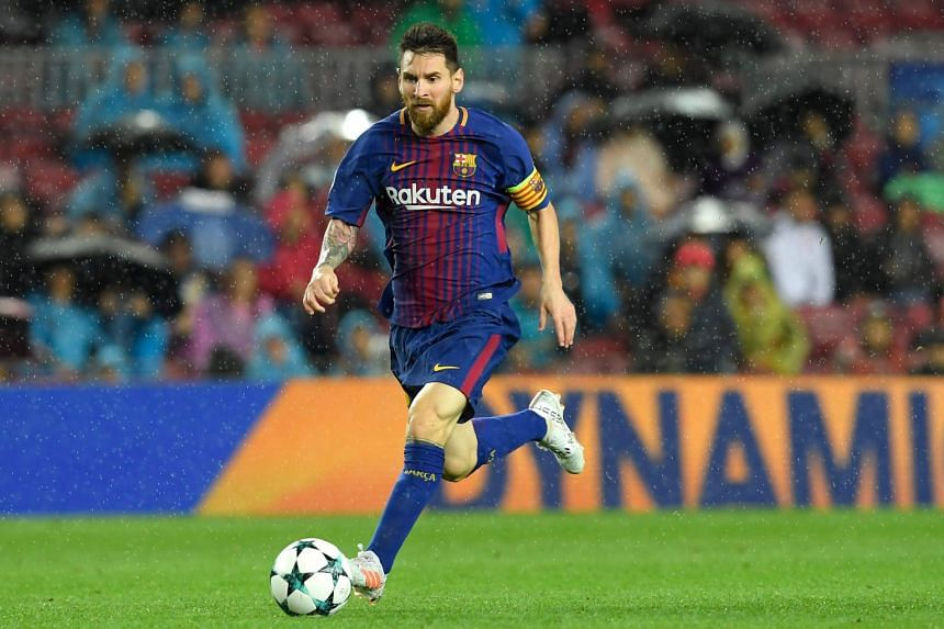 Barcelona's Lionel Messi during the match.
