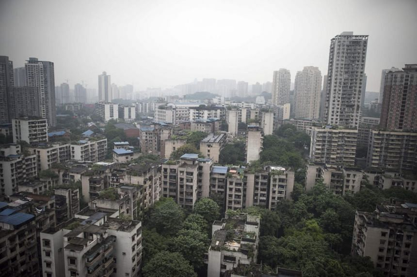 Property sales in China dropped for the first time in more than two-and-half years in September and housing starts slowed sharply.