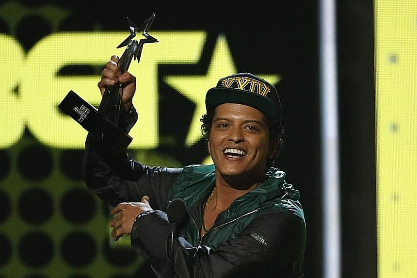 American singer-songwriter Bruno Mars' Singapore concerts are held next month.