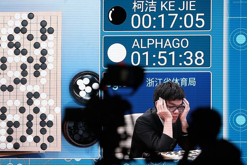 DeepMind chief executive Demis Hassabis said the company is planning to apply an algorithm based on AlphaGo Zero to other domains with real-world applications, starting with protein folding. Top-ranked Ke Jie playing in May against AlphaGo, which bea