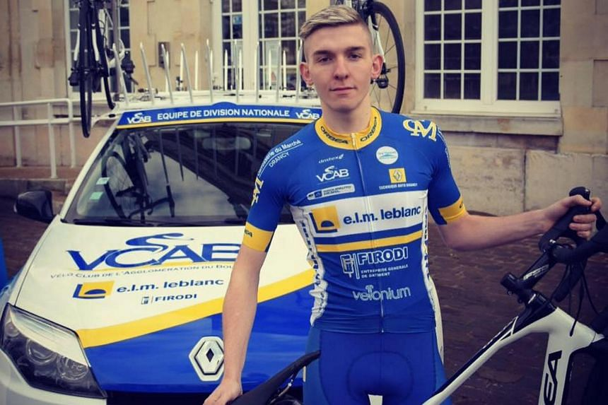 Mathieu Riebel was killed instantly in the horror smash at the Tour de Nouvelle-Caledonie on Friday.