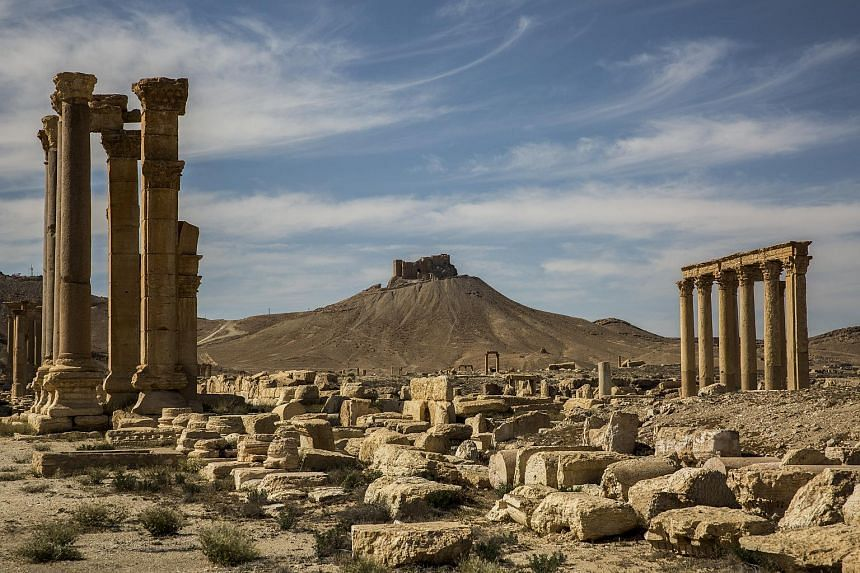 The ancient ruins of Palmyra, Syria, on April 2, 2016.