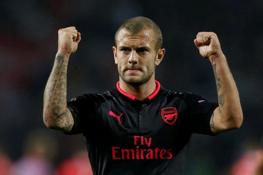 Arsenal's Jack Wilshere returned to action for Arsenal in their Europa League opener against FC Cologne in September.