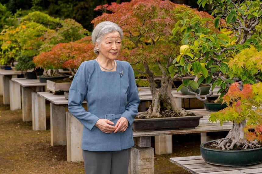 Japan's Empress Michiko at the Imperial Palace in Tokyo on Sept 27, 2017.