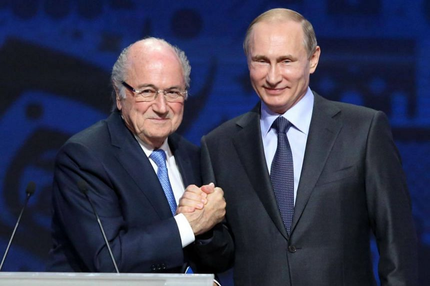 Fifa's disgraced former president Sepp Blatter (left) said he will go to the World Cup in Russia after receiving an invitation from President Vladimir Putin.