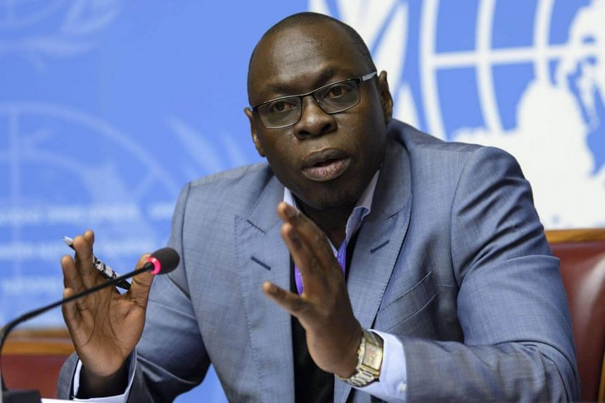 Ibrahima Soce Fall, Regional Emergency Director for Africa, World Health Oganization (WHO), updates on the plague situation in Madagascar, at the European headquarters of the United Nations in Geneva, Switzerland, on Oct 20, 2017.