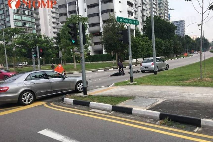 The 41-year-old woman was taken to Tan Tock Seng Hospital.