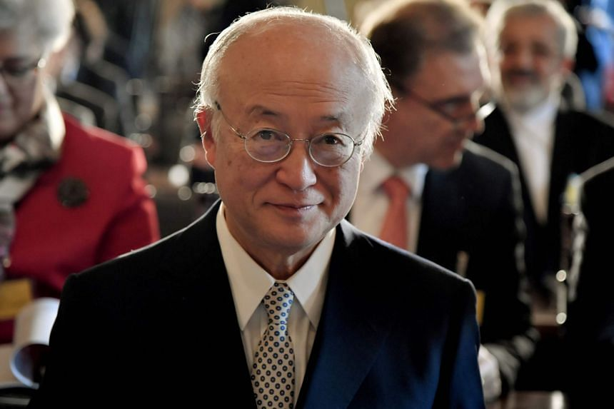 Control and verification activities are going on without any problems, said  Yukiya Amano (above).