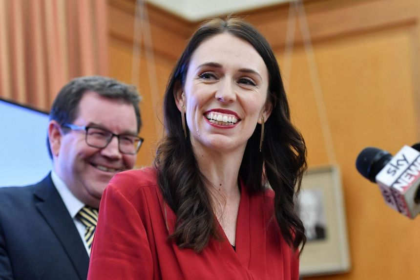 Leader of the Labour party Jacinda Ardern speaks at a press conference at Parliament in Wellington on Oct 19, 2017.