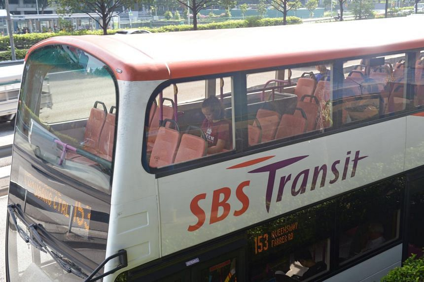 Commuters on buses during off-peak travel hours.