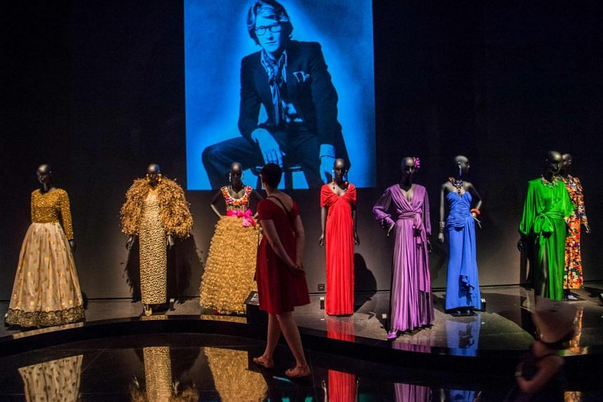 Tourists visit the new Yves Saint Laurent museum in the Moroccan city of Marrakesh.