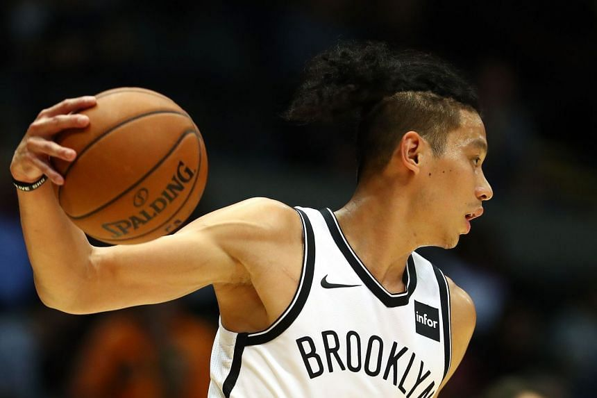 Lin (above) was injured on a drive to the basket during the fourth quarter of Brooklyn's 140-131 defeat at Indiana.