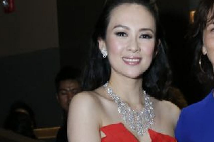 Actresses Zhang Ziyi (above) and Michelle Yeoh.