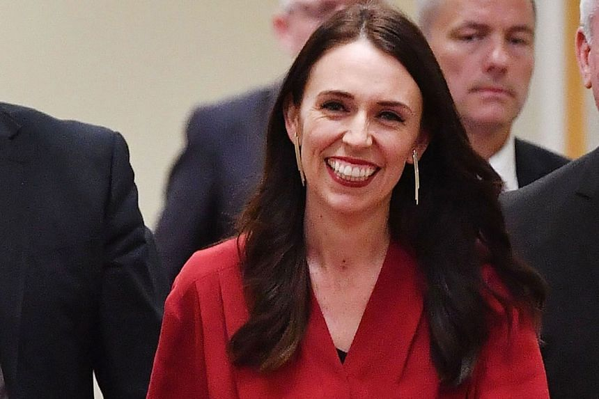 Ms Jacinda Ardern arriving at Parliament in Wellington yesterday for a press conference. She is leading Labour into office for the first time in nine years.