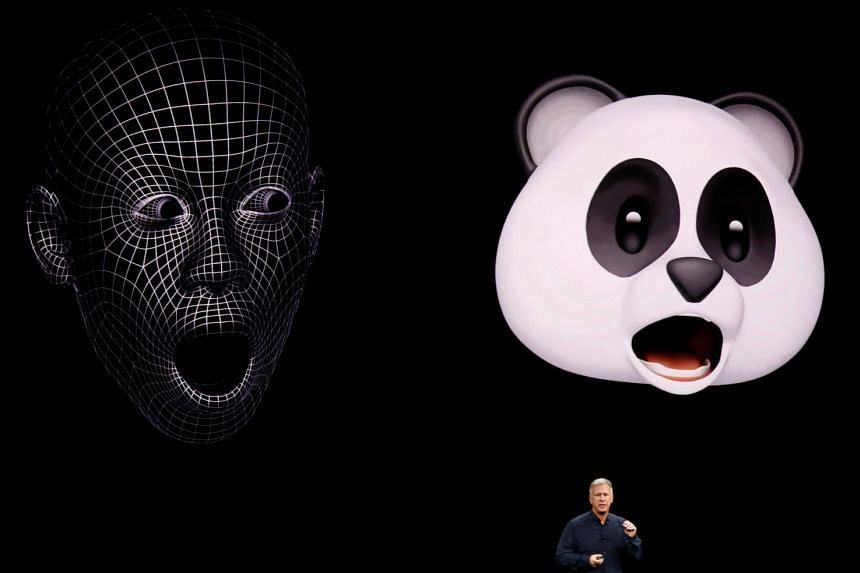 Apple senior vice-president of worldwide marketing, Phil Schiller, shows Animoji during a launch event in the US, Sept 12, 2017.