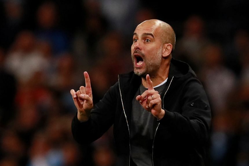 Guardiola's (above) team have been in imperious form so far this season and are unbeaten in all competitions.