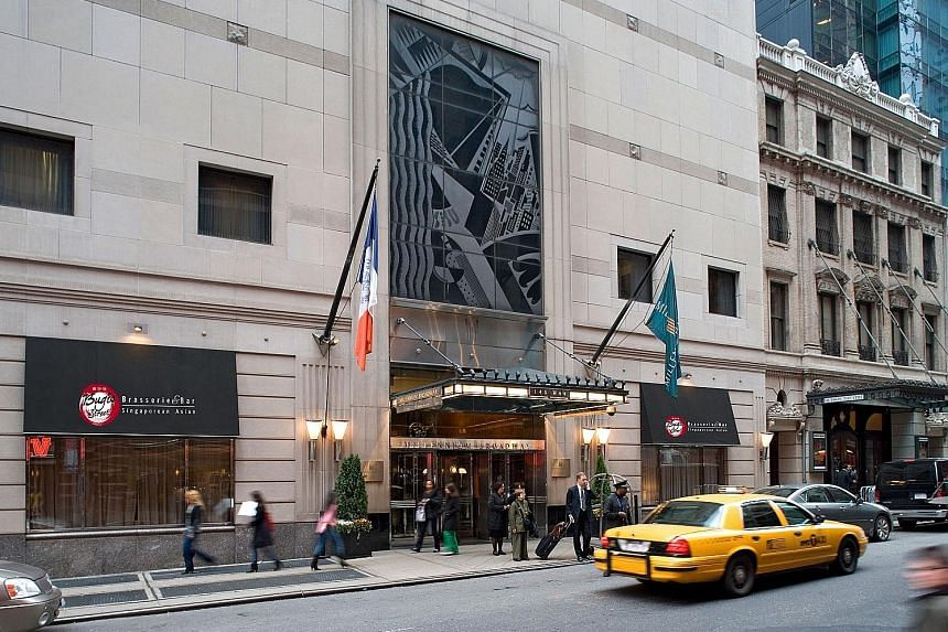 The Millennium Broadway hotel in New York. The row began earlier this week when fund managers criticised M&C independent directors' recommendation to accept CDL's proposed cash offer of 552.5 pence a share.