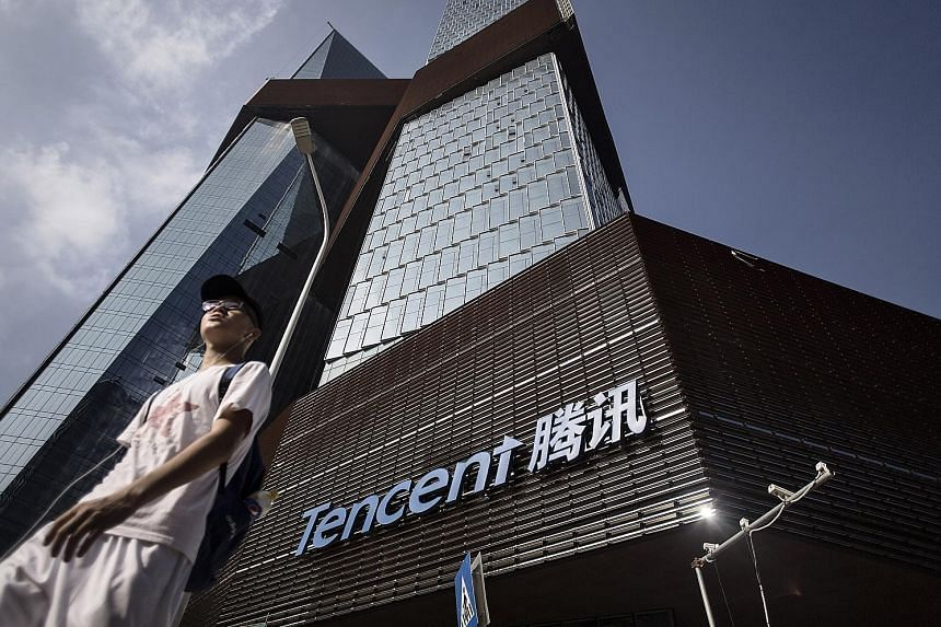 Tencent's headquarters in Shenzhen, China. Sea is often called the Tencent of South-east Asia and has benefited from the Chinese firm's support. Sea licenses games from Tencent, which also holds a stake of about 40 per cent in the smaller company.