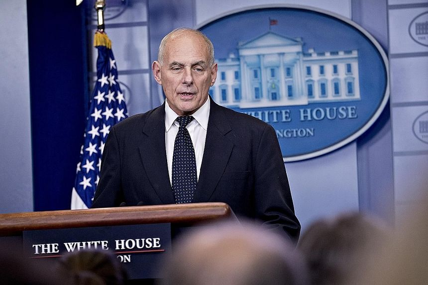 White House Chief of Staff John Kelly defended the US President during a briefing in Washington on Thursday. He said Mr Donald Trump had expressed his condolences in the best way he could.