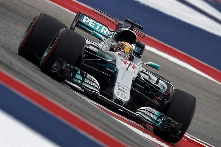 Championship leader Lewis Hamilton smashed the lap record at the Circuit of the Americas. His best lap in one minute and 34.668 seconds saw him outpace nearest rival Max Verstappen.