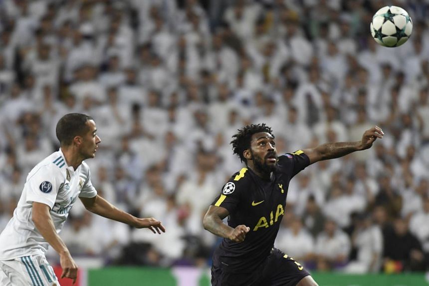 Tottenham's Rose (right) in action against Real Madrid in their Champions League match on Oct 17, 2017.