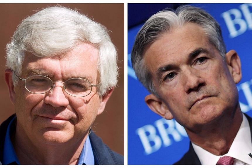 Trump is considering Stanford University economist John Taylor (left) and Federal Reserve Governor Jerome Powell for top posts.