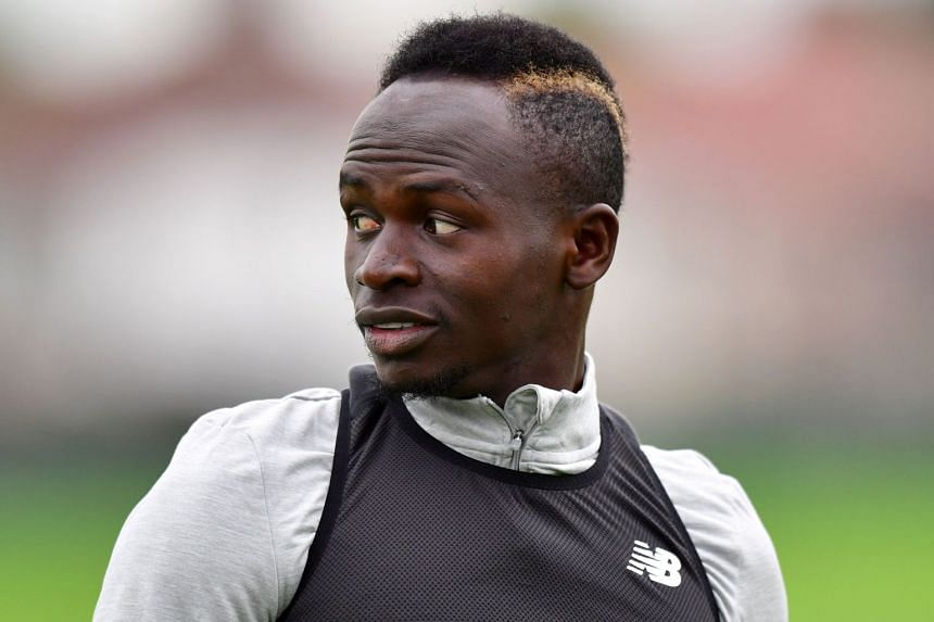 Liverpool's Senegalese midfielder Sadio Mane attending a team training session in September 2017.