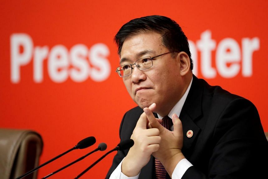 Vice Minister of the International Department of the CPC Central Committee Guo Yezhou attends a news conference during the 19th National Congress of the Communist Party of China (CPC) in Beijing, China, on Oct 21, 2017.