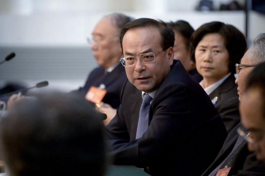 Sun Zhengcai was publicly accused on Thursday (Oct 19) of trying to seize control of the Communist Party.