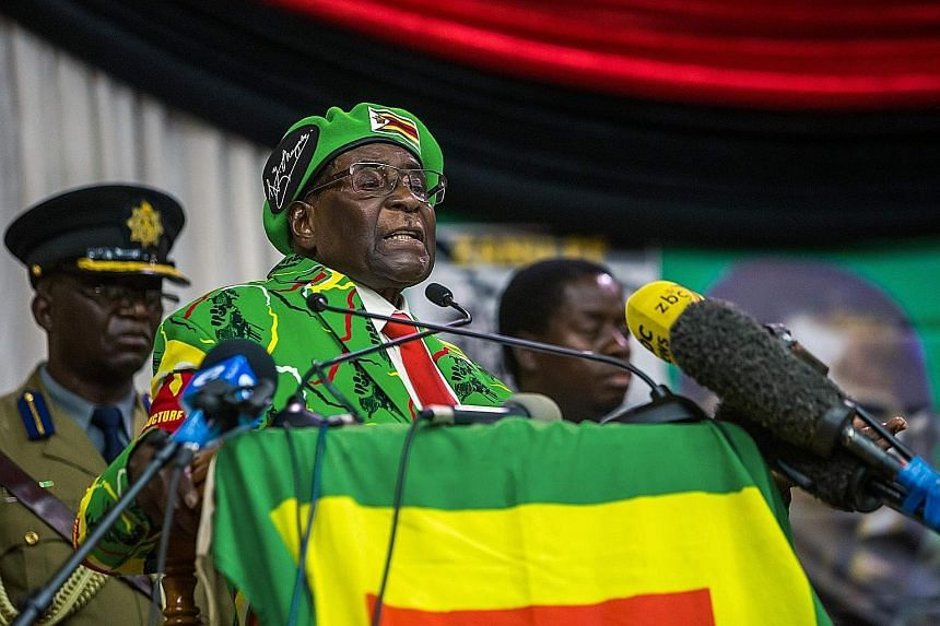 "Zimbawean President Robert Mugabe's country was hailed by WHO director-general Tedros Adhanom Ghebreyesus as one ""that places universal health coverage and health promotion at the centre of its policies to provide health care to all"". Zimbabwe's heal"