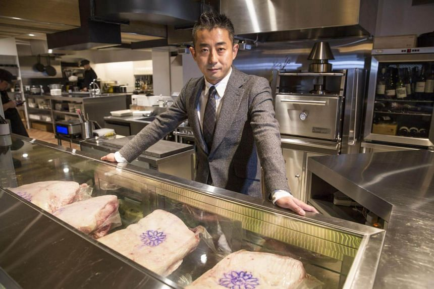 Hisato Hamada, co-founder of Wagyumafia, at a members only restaurant operated by Wagyumafia in Tokyo, Japan, on Sept 28, 2017.