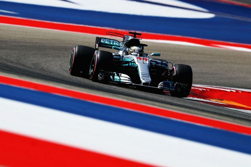 Lewis Hamilton on track during the final practice in Austin, Texas.
