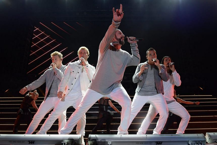 The Backstreet Boys in action at the National Stadium.
