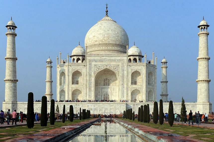 As many as 28 different varieties of semi-precious and precious stones were used to adorn the Taj Mahal, in Agra, Uttar Pradesh