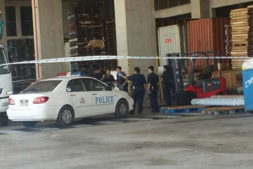 Tay Poh Seng was sentenced to two months' jail for causing the death of a lorry driver at CWT Logistics Hub 3 in Tanjong Penjuru.