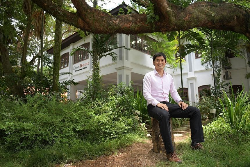 Mr Ng Yi Xian, seen here at the EtonHouse school in Thomson Lane, says the challenge now is how to take on a more regional role while looking after the Singapore operations. EtonHouse now has some 100 schools in 12 countries with 12,000 students.