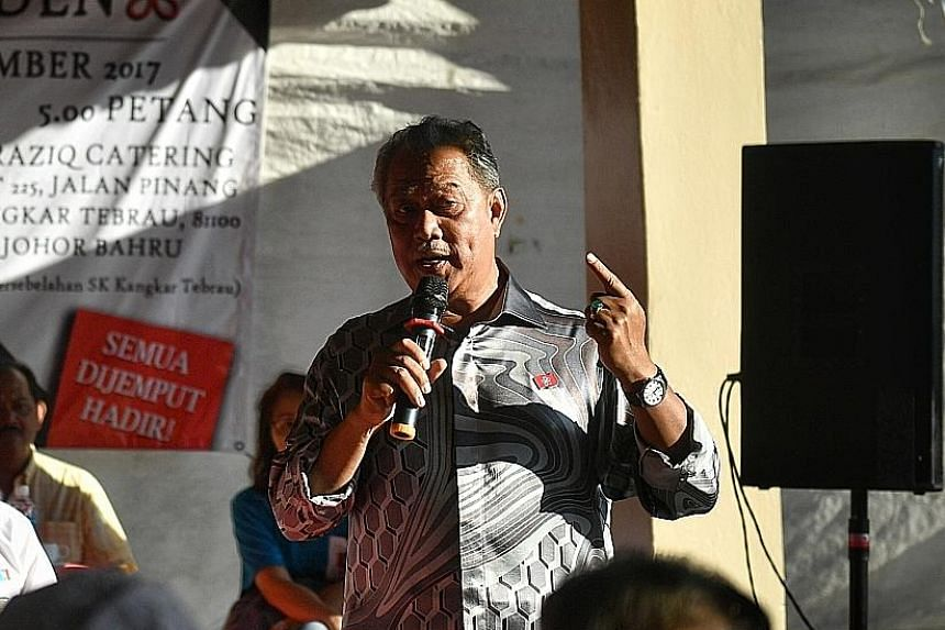 Tan Sri Muhyiddin Yassin at a recent PPBM rally.