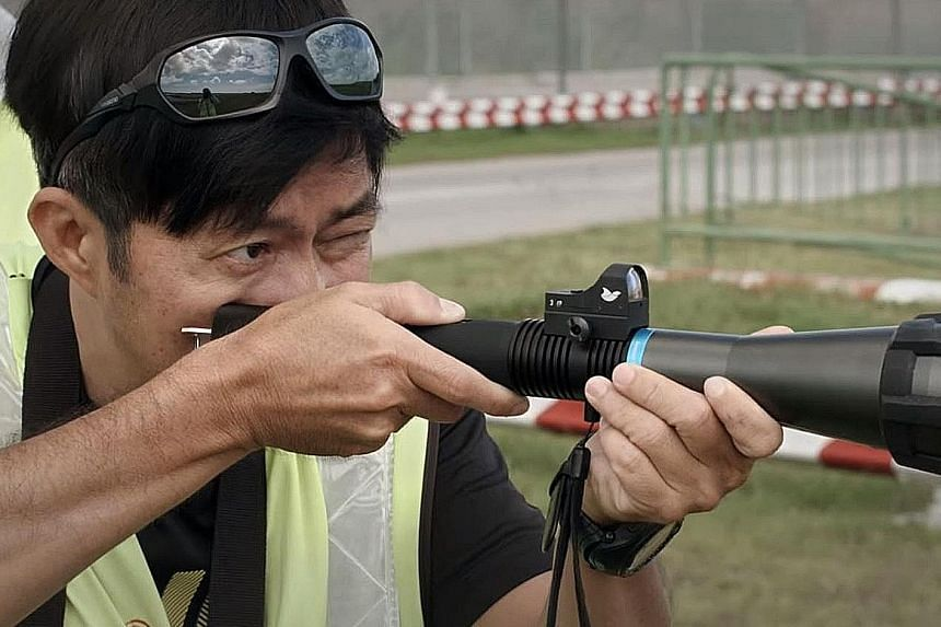 AVA said lasers have been used to scatter birds at Changi Airport, and as part of other bird management trials. The method is non-lethal and humane.