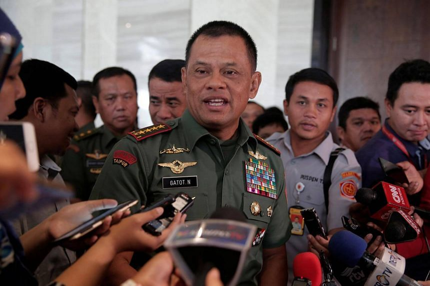 General Gatot Nurmantyo was told he cannot travel to the US despite having been invited to Washington by General Joseph Dunford, chairman of the US Joint Chiefs of Staff.