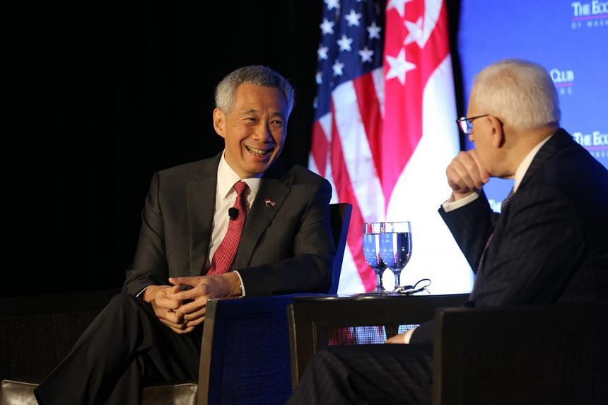 PM Lee Hsien Loong noted that a new US administration with a radically different approach has not turned the substance of US-Asia ties upside down. He was interviewed by moderator David Rubenstein, president of the Economic Club of Washington, after