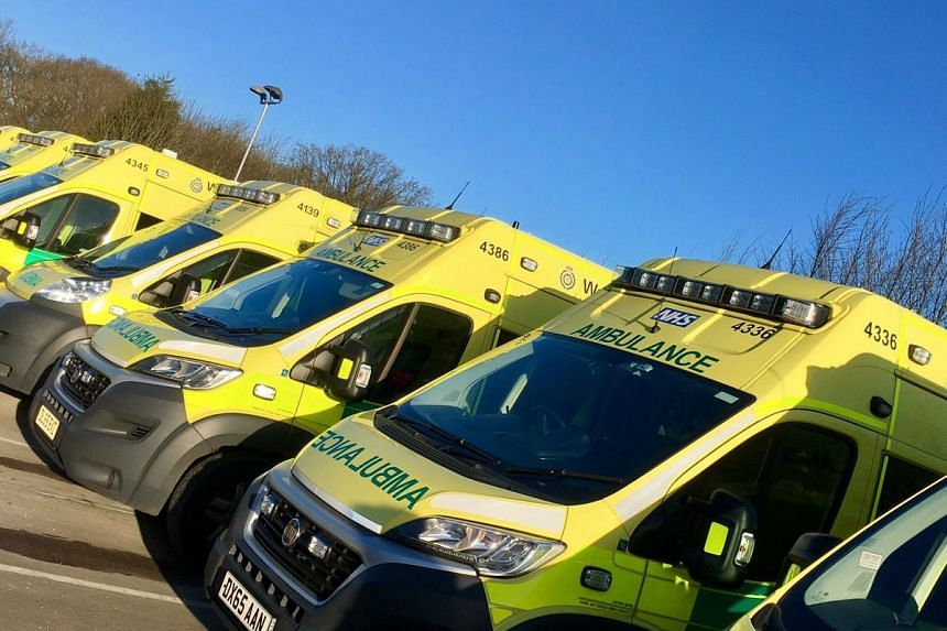 The West Midlands Ambulance Service posted this picture with a tweet that said an ambulance, paramedic officers and the Hazardous Area Response Team were at the complex after a call at 3.40pm.