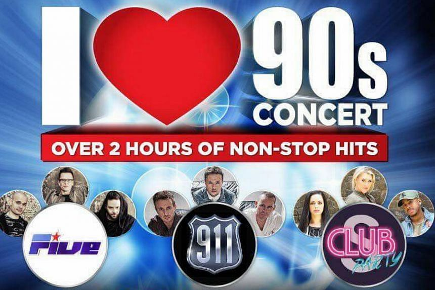 As part of the I Love 90s concert, selected members from the bands will be taking the stage on March 10 for approximately two hours.