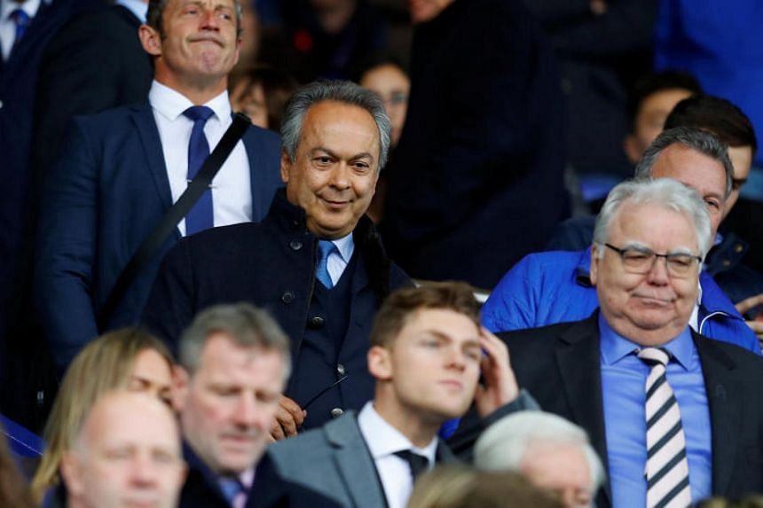 Everton owner Farhad Moshiri and chairman Bill Kenwright in the stands before the match.