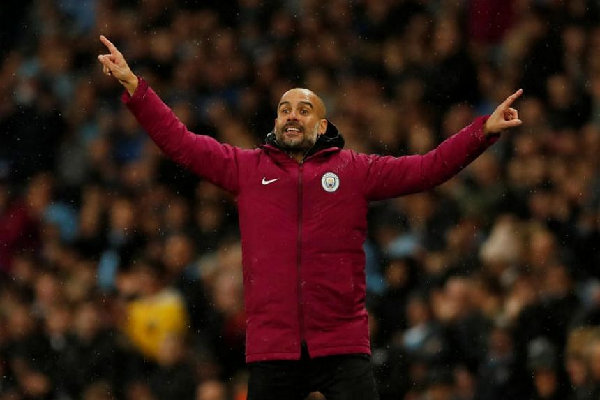 Manchester City manager Pep Guardiola during the Premiere League on Oct 21, 2017.