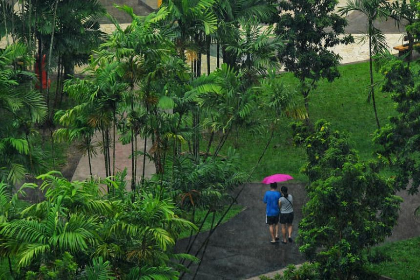 NEA said thundery showers are expected over parts of Singapore on Monday (Oct 23) afternoon.