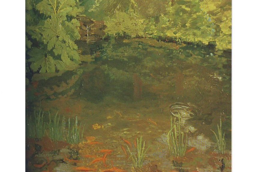 The piece, called The Goldfish Pool At Chartwell, has never been exhibited before, and is expected to fetch up to £80,000 (S$143,748) in Sotheby's modern and post-war British art sale in London on Nov 21.
