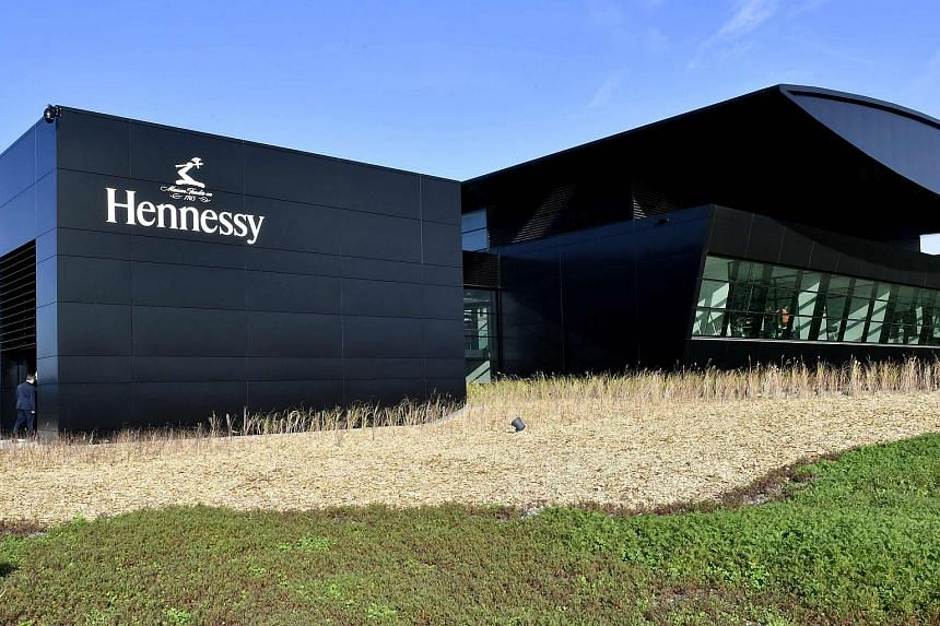 The world leader for the production of Cognac Hennessy's new bottling plant is pictured on Oct 18, 2017 in Salles-d'Angles.